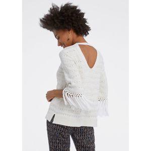 NIC+ZOE fringe sleeve sweater